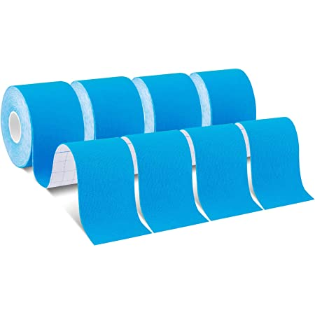 Kinesiology Tape for Shoulder SpiderTech Precut Roll Blue Preferred by Athletes Back 6 Pack Knee Legs Help re-Train Muscles etc high-Grade Cotton Material Reduce Pain and Inflammation