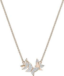 Swarovski Collana Lilia, Cristallo Bianco, Piccola, Placcata Nella Tonalità Oro Rosa, da Donna