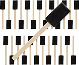 US Art Supply 1 inch Foam Sponge Wood Handle Paint Brush Set (Value Pack of 25) - Lightweight, durable and great for Acryl...