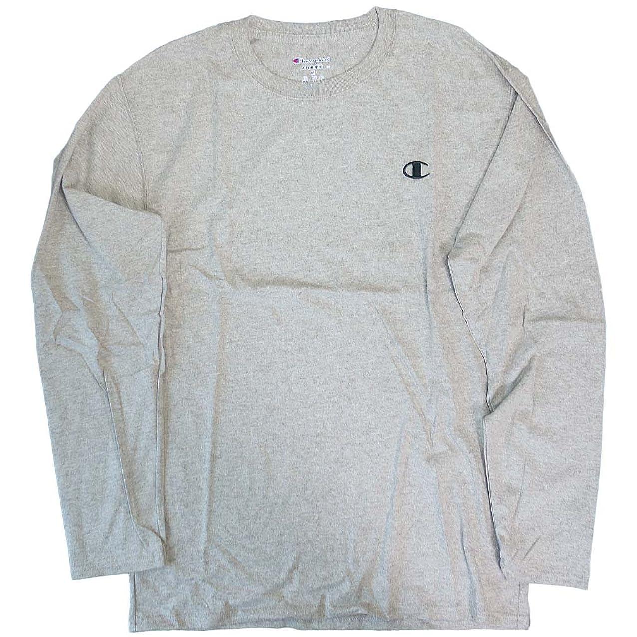 チャンバー鋭くコミットCHAMPION[チャンピオン] Tシャツ ロンT 長袖 メンズ グレー CHAMPION 5037