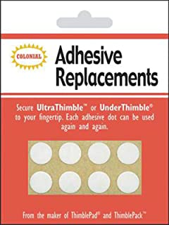 Colonial Needle SM201 Under Thimble Adhesive Replacement, 8-Pack