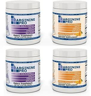 L-arginine Pro, #1 NOW L-arginine Supplement - 5,500mg of L-arginine PLUS 1,100mg L-Citrulline + Vitamins & Minerals for Cardio Health, Blood Pressure, Cholesterol, Energy (Berry & Orange, 4 Jars)