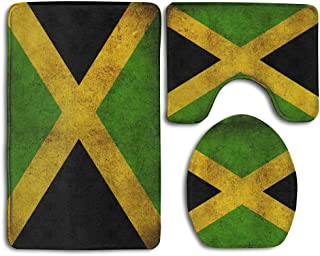 NiYoung Vintage Jamaican Flag Thicken Skidproof Toilet Seat U Shaped Cover Bath Mat Lid Cover