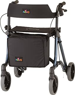 """NOVA Forte Rollator with 23"""" Seat Height, Blue"""