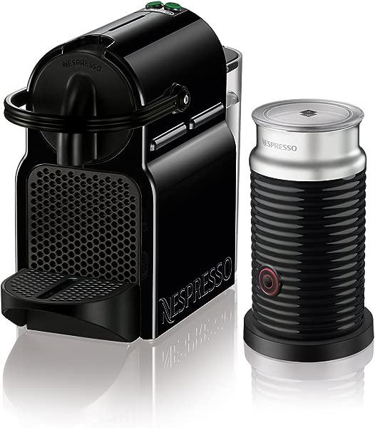 Nespresso EN80BAE Original Espresso Machine Bundle With Aeroccino Milk Frother By De Longhi 1 Pack Black