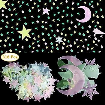Adesivi murali Hauserlin adesivi autoadesivi adesivi murali , 435 stelle luminose//punti luminosi per il tuo cielo stellato
