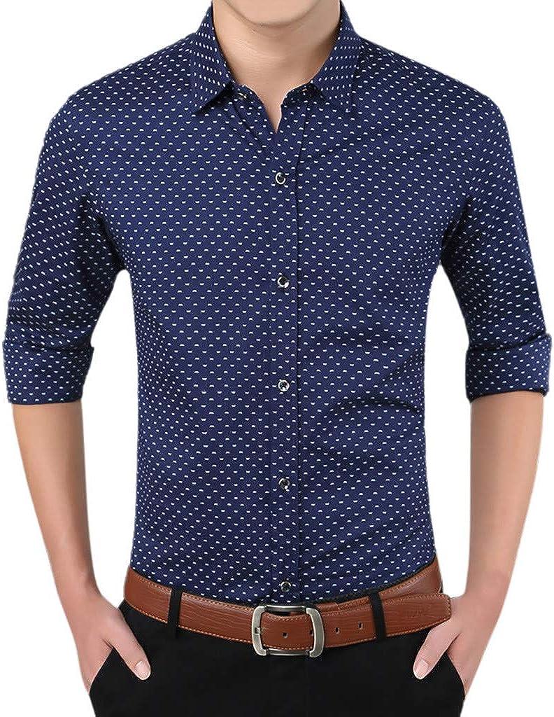 Men's Long Sleeve Casual Button Down Classic Fit Business Dress Shirt