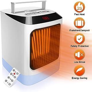 HALUM Mini Ventilador Calefactor Estufa, Portátil Handy Heater Comfort Compact Calefactor, función Silence PTC cerámicos Heating Fan Máquina de Calentamiento Rápido para el Hogar/Oficina