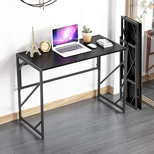 high quality Elephance discount Folding Computer Desk 39 inches Study discount Office Desk for Home Office, No-Assembly Writing Desk Foldable Table for Small Spaces sale