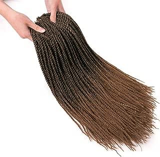 6 Packs/Lot 1B/Honey Blonde 30 Strands/Pack Ombre 2S Senegalese Twist Crochet Hair 22Inch Braids Kanekalon Synthetic Brown Small Havana Mambo Twist Crochet Braiding Hair Extensions(T1B/27)