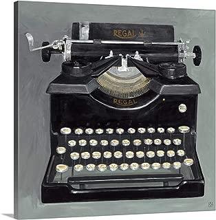 typewriter wall art