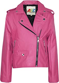 Kids Jackets Girls Designer's PU Leather Jacket Zip Up Biker Coats 7-13 Years