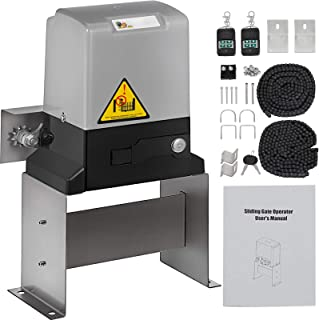 FMC Gate Opener for Gate up to 3100lb Automatic Gate Opener with 2 Remote Controls Sliding Gate Opener Move Speed 43ft Per Min for Fence Driveway