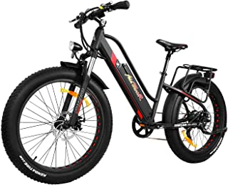 Addmotor MOTAN Electric Bicycles Adult, 26 Inch Step Thru Women Men Bikes, 500W Motor Fat Tires 48V 10.4Ah Battery Assisted M-450 Bike for City Commuter
