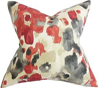 La Almohada Collection delyne para cojín, diseño de Flores, Color Rojo