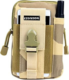 EZONEDEAL Universal Multipurpose Hunting Tactical Smartphone Holster EDC Security Accessible Carry Accessory Pouch Belt Lo...