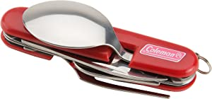 Coleman Camper's Utensil Set , Red, 1.1 x 8.75 x 4.25 inches