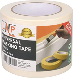 LNP Tools Malerkrepp 30mm x 50m Extra Stark Kreppband 3er Pack für Malerarbeiten