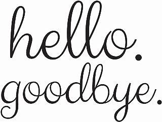 Wall Pops DWPK2013 Hello goodbye Door Decal Black
