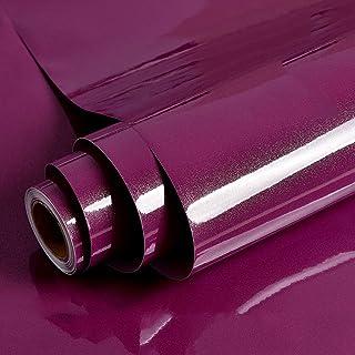 Hode Papel Adhesivo para Muebles Morado30cmX3m Impermeable Vinilo Pegatina Decorativo Papel Pintado Cocina Baño PVC