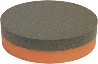 Norton Abrasives IB64 India AO Combination Grit Benchstone With Coarse and Fine Grits, Aluminum Oxide Abrasive, Orange/Brown Colors, Round, 4