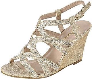 5c9d4e548a8b6 FL Fairway-35 Women Wedding Rhinestone Wedge Sandal