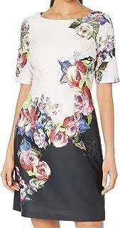 Women's Rose Printed A-line Dress