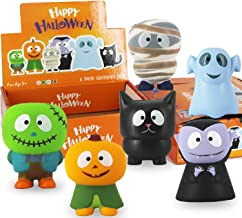 heytech 6 Packs Halloween Squishies Toys Slow Rising: Gift Box Includes Spooky, Pumpkin, Zombie,Black Cat,Mummy, Vampire Soft Squishy Toys Great Sensory Toys for Girls,Boys,Kids