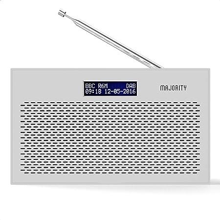 MAJORITY Histon II Compact DAB Radio Portable | Battery Powered with DAB/DAB+ & FM | Dual Alarm & Snooze Function | 20 Preset Stations