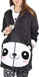 Bata Manga Larga Calentita Cool Panda para Mujer