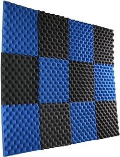 New Level 12 Pack- Ice Blue/Charcoal Acoustic Panels Studio Foam Egg Crate 1