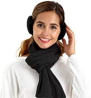 Metog Unisex foldable scarves ear warmer earmuffs neck-gaiters for men women fleece Winter Accessory Outdoor