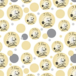 GRAPHICS & MORE I Love My Poodle Premium Gift Wrap Wrapping Paper Roll