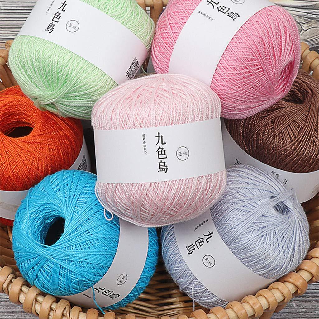 WoWer Lace línea DIY tejido algodón fino hilo de algodón ganchillo ...