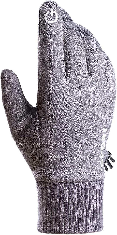 Winter Windproof Gloves, Warm Cycling Gloves Touch Screen Sport Working Climbing Gloves for Men Women
