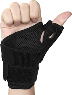HQMaster Thumb Splint Support Brace for Pain Sprains Arthritis Carpal Tunnel & Trigger Thumb Immobilizer with Wrist Strap Fits Both Left and Right Hand for Men and Women 1 Pcs