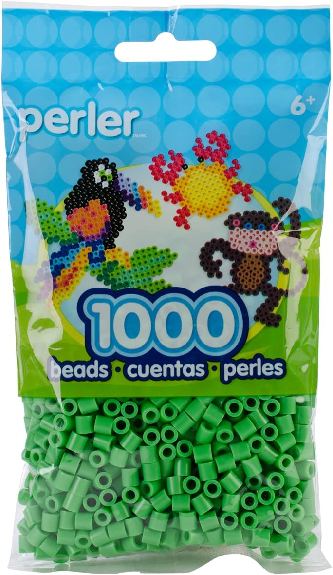 Bargain sale Bright Green Perler Beads for Crafts Kids pcs Ranking integrated 1st place 1000