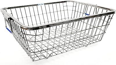 Plantex High Grade Stainless Steel Dish Drainer Basket for Kitchen/Dish Drying Rack/Bartan Basket (Size 1)