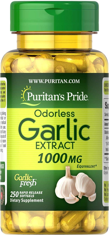 Puritan's Pride Fees free!! Odorless Garlic 1000 Rapid Ranking TOP13 Softgels Mg Release