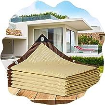PENGFEI schaduwdoek Sunblock schaduwnet, beige tinten zonnebrandnetten, buiten balkon bloem tuin onderdak UV-bescherming v...