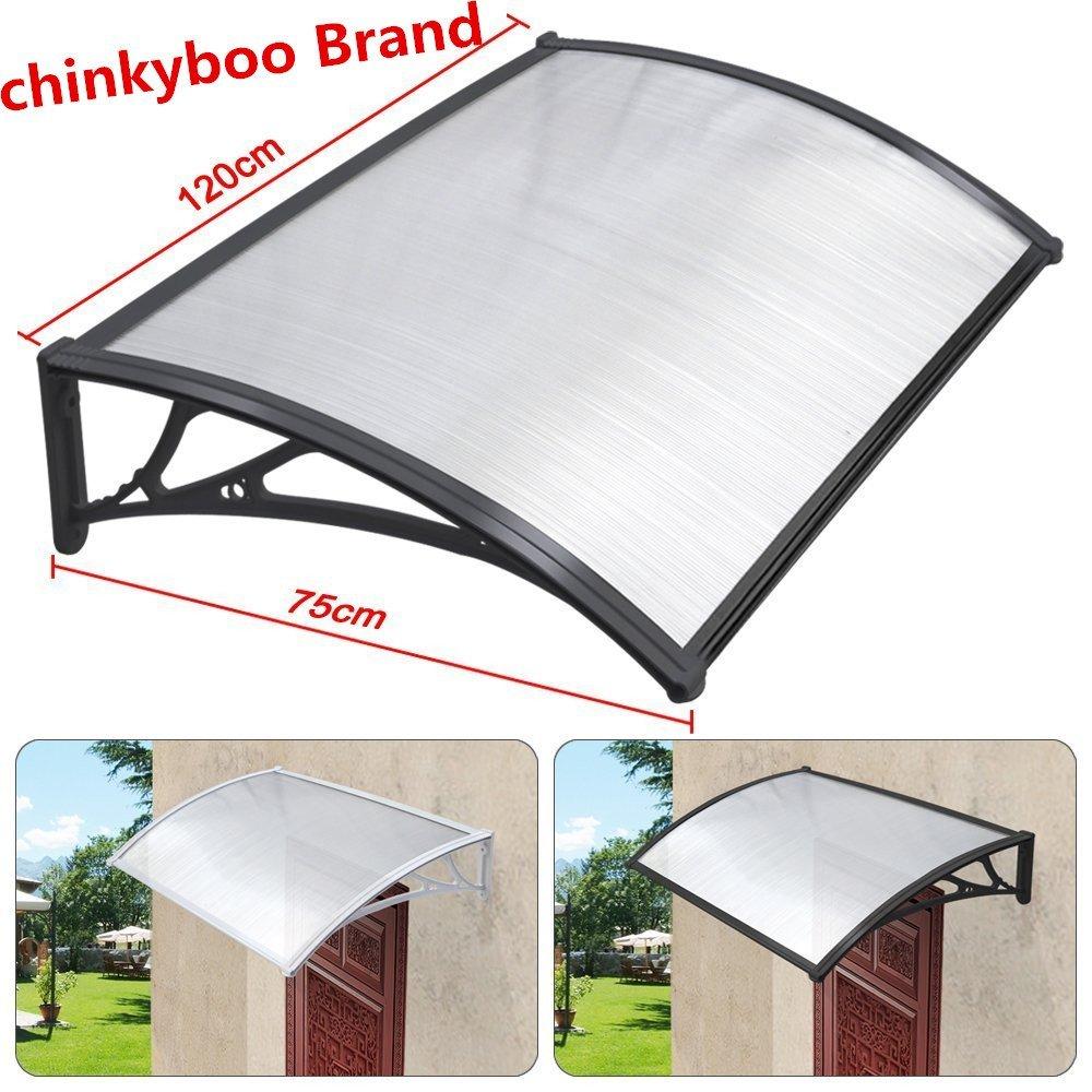 chinkyboo Easy Fit Door Canopy 120 x 75cm Outdoor Garden Door Canopy Door Window Awning Patio  sc 1 st  Amazon UK & Over Door Canopy: Amazon.co.uk