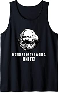 Workers of The World Unite! Marx Quote Socialist Comrade Tank Top