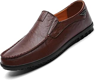 Go Tour Men's Casual Leather Fashion Slip-on Loafers Shoes