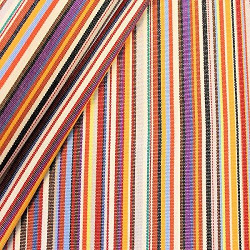 STOFFKONTOR Outdoor Stoff Markisenstoff - Outdoorstoff Meterware wasserabweisend - Sonnenschutz Stoff Blickdicht und farbecht - Multicolor 1 gestreift