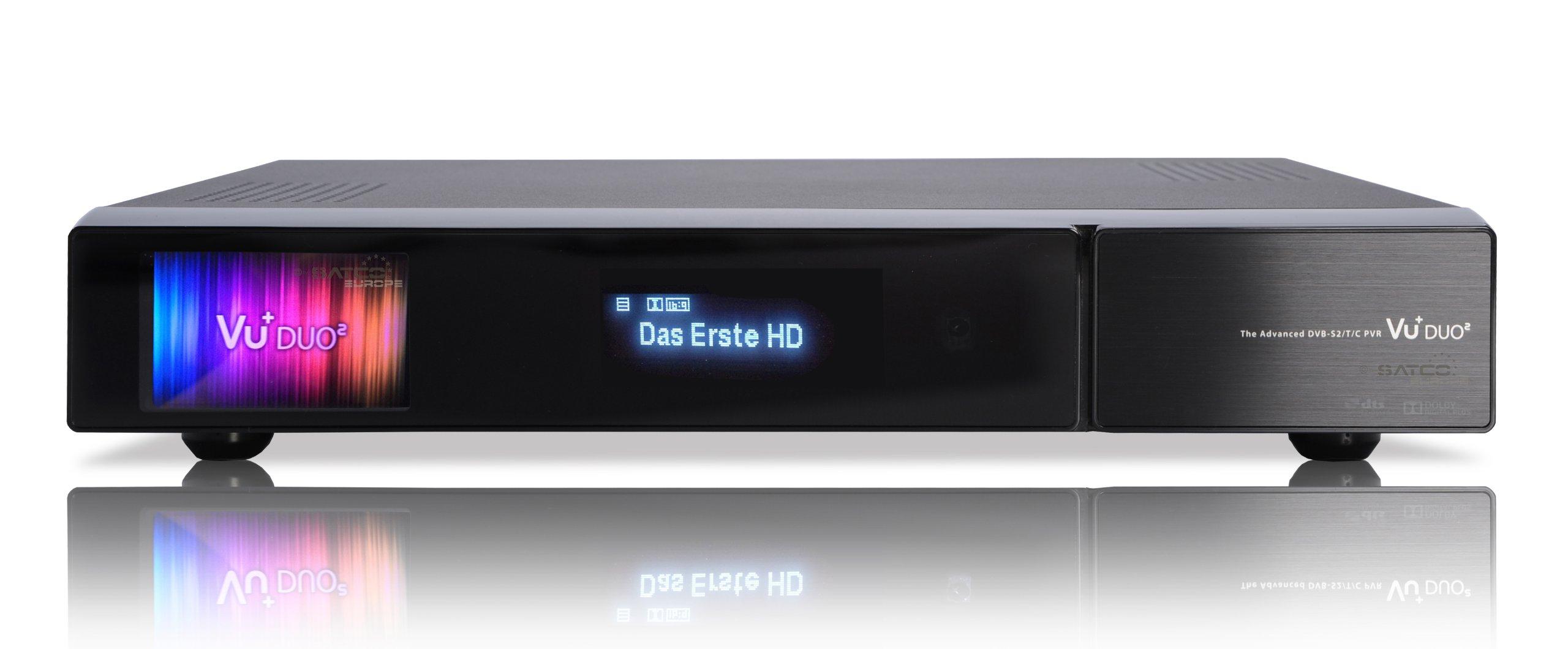 Vu+ DVB-S2 Tuner - Receptor de TV por satélite (disco duro de 1 TB), negro (importado): Amazon.es: Electrónica