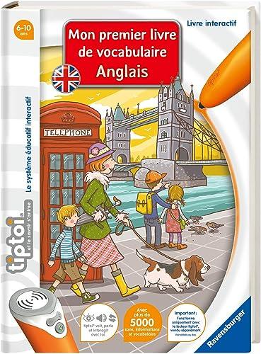 Ravensburger - Livre interactif tiptoi - Mon Premer Livre de Vocabulaire Anglais - Jeux électroniques éducatifs sans ...