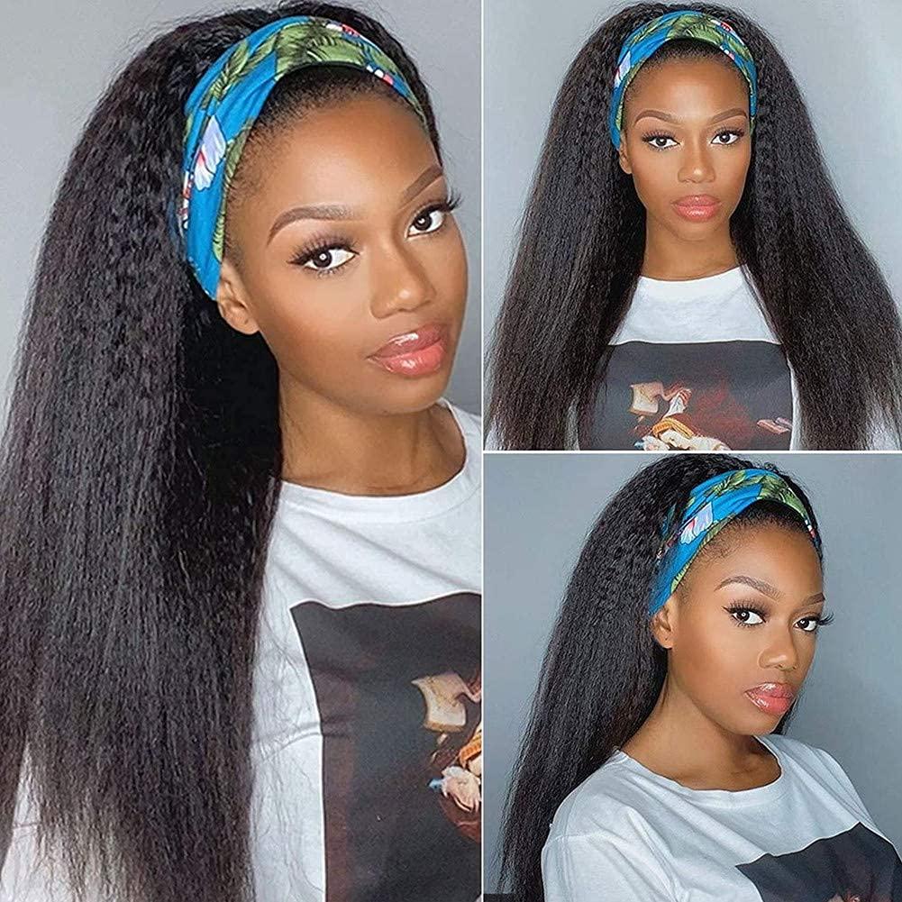 Kinky Straight Ranking TOP18 Headband Wig Human Ranking TOP7 Hair Black 22 Wigs for Women