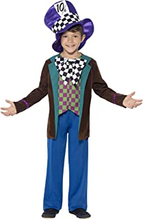 Smiffys Children's Deluxe Hatter Costume, Blue, S - Age 4-6 years