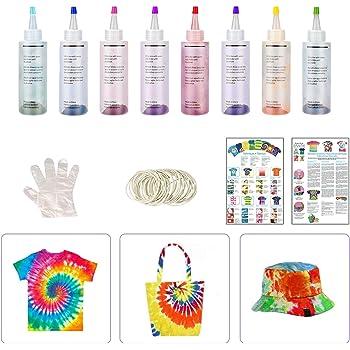 8 Colores Colores Vibrantes Pinturas Ropa,Tie Dye,Textiles de ...