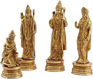 Modfash Ram Sita Laxman Hanuman standbeeld hindoeïstische God beeldje messing metalen beeldhouwkunst Ram Darbar Idol Murti...